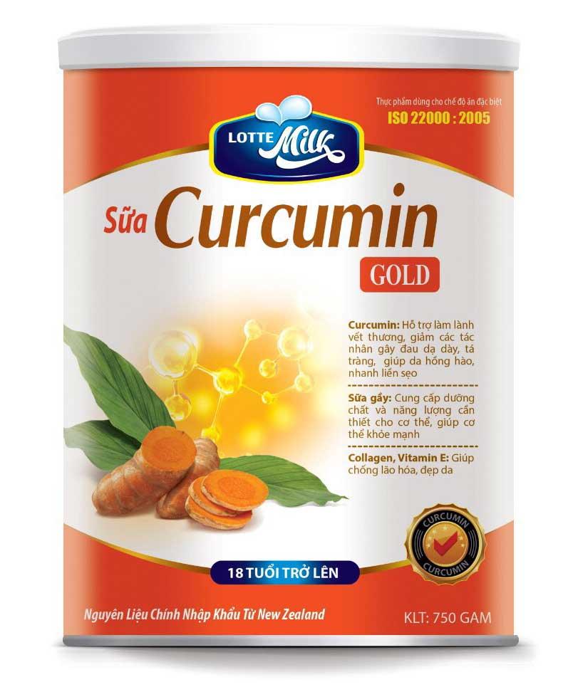 Sữa Curcumin (sữa nghệ) - Làm lành vết thương, giảm các tác nhân gây đau dja giày, tá tràng...