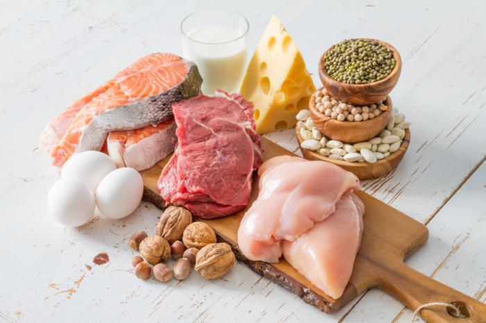 Chất đạm có nhiều trong thịt, sữa, trứng và có ít hơn ở rau, đậu, ngũ cốc...