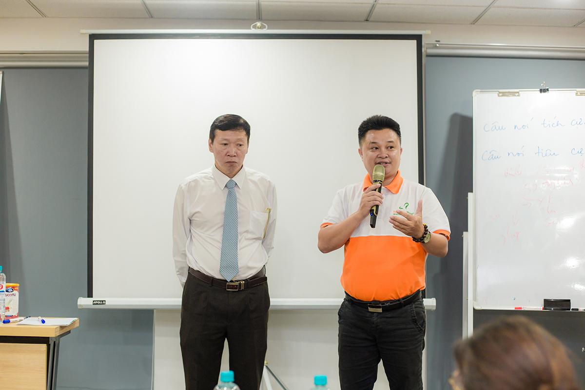 """Ông Dương Bá Hưng - Tổng Giám Đốc Top Ten Food đã có nhiều chia sẻ ý nghĩa cũng như truyền """"năng lượng"""" tích cực cho mọi người"""